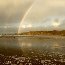 A Longstaff Media broad capture a double rainbow while filming for TV.