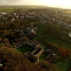 St Davids church in west Wales was filming by Longstaff media for a documentary, this shot was taken by a UAV drone.